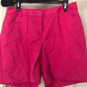 Hot pink linen shorts 6-in inseam Size 8